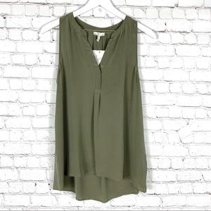 JOIE 100% Silk Army Green Tank Top